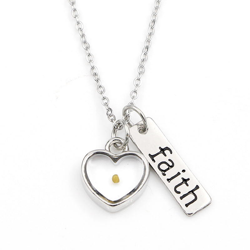 The Seed of Faith Mustard Seed tainless steel necklace