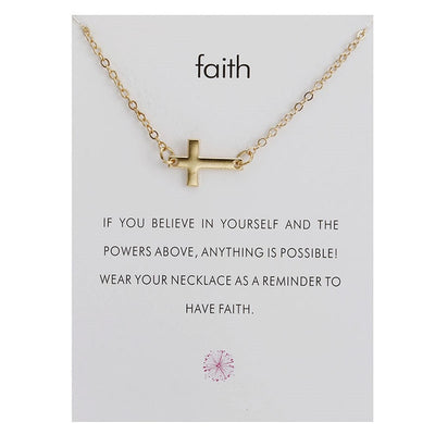 Limited Edition Holy Faith Cross Necklace