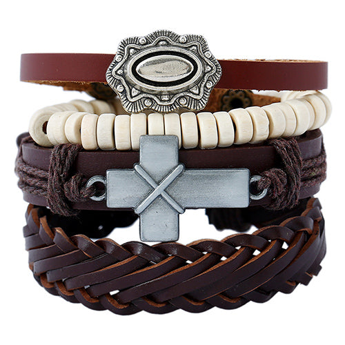 Vintage Multilayer Handmade Leather Bracelet