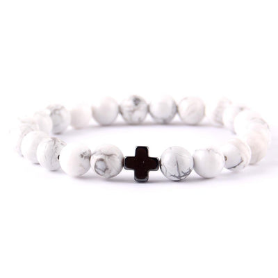 Natural Stone 'Strength In Faith' Men's & Womens Bracelet