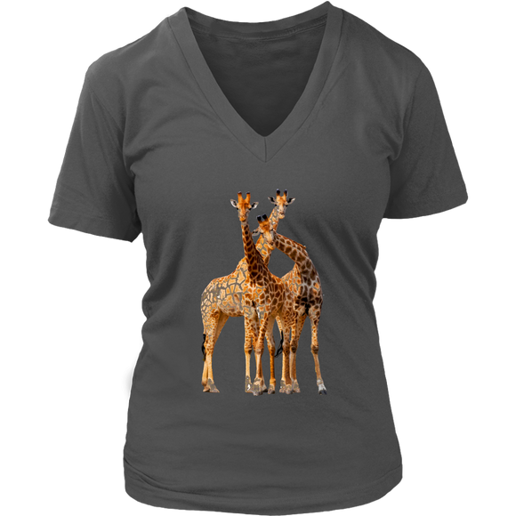 Giraffe T-Shirt | Women's V-Neck