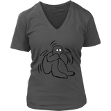 Fear T-Shirt | Halloween Women's V-Neck