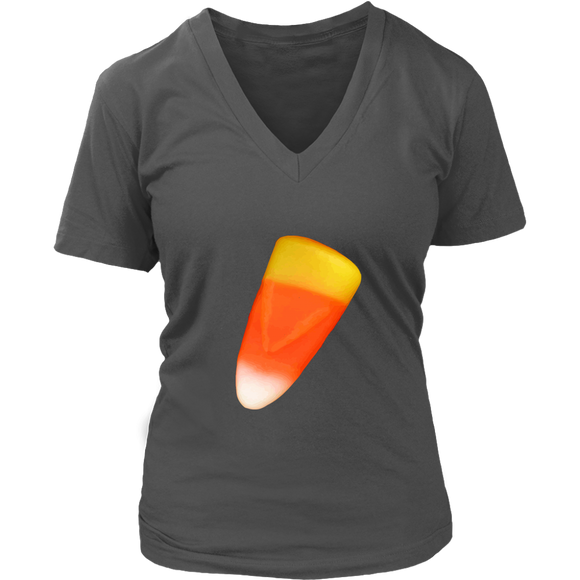 Candy Corn T-Shirt | Halloween Women's V-Neck
