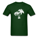Palm Tree | Men's Crew Neck - forest green