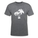 Palm Tree | Men's Crew Neck - mineral charcoal gray
