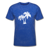 Palm Tree | Men's Crew Neck - mineral royal