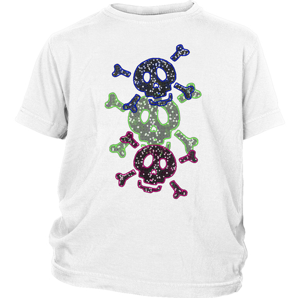Three Skulls | Halloween Kids Halloween T-Shirt