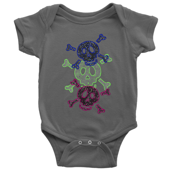 Three Skulls | Halloween Baby Bodysuit