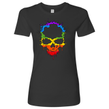 Gay Skull T-Shirt | Halloween Women's Crew Neck