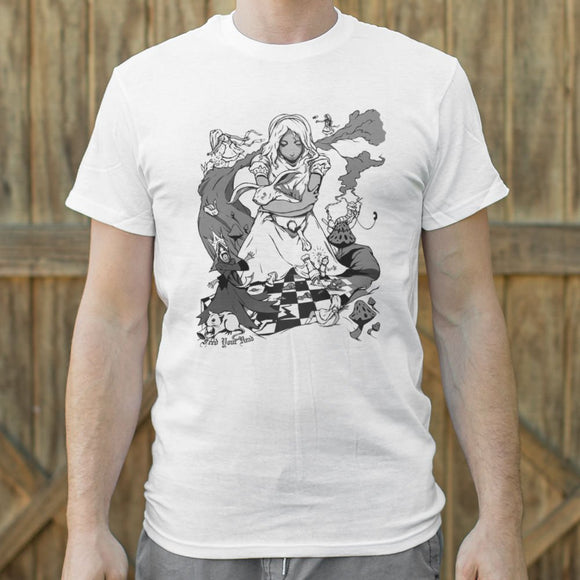 Alice In Wonderland T-Shirt | Men's Crew