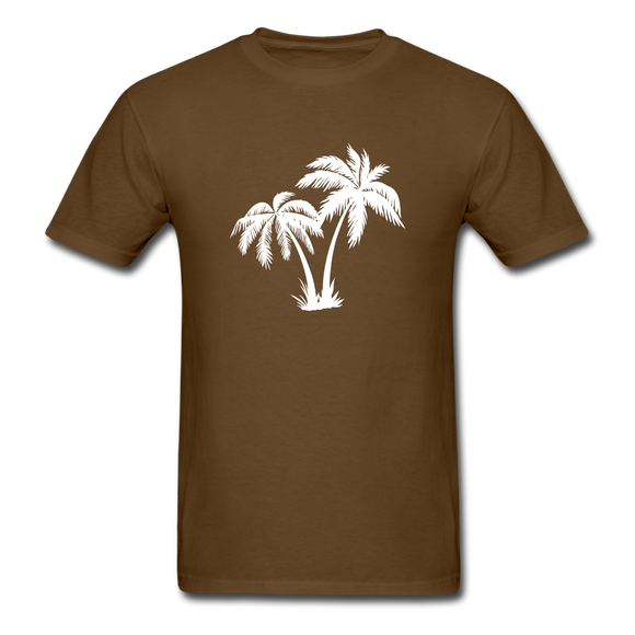 Palm Tree | Men's Crew Neck - brown