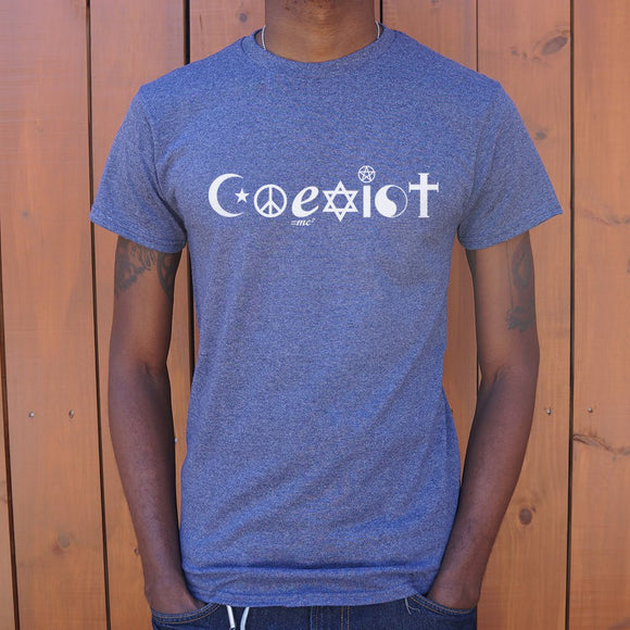 Coexist Symbols T-Shirt | Men's Crew Neck