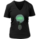 Light Bulb T-Shirt | Women's V-Neck