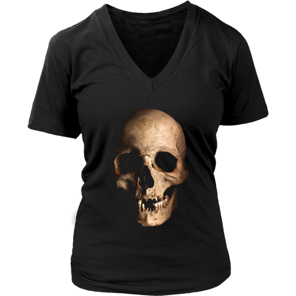 Skull T-Shirt | Halloween Women's V-Neck