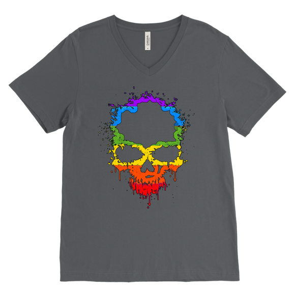 Gay Skull T-Shirt | Halloween Men's V-Neck