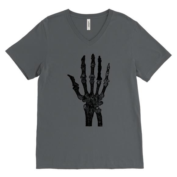 Skeleton Hand T-Shirt | Halloween Men's V-Neck