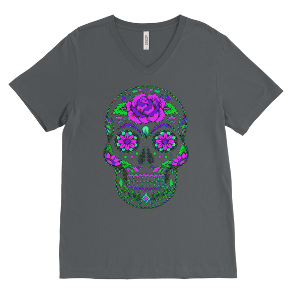 Sugar Skull | Halloween Men's V-Neck