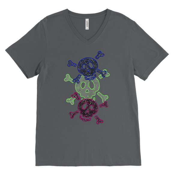 Three Skulls | Halloween Men's V-Neck