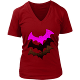 Three Bats | Halloween Women's V-Neck