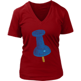 Thumbtack T-Shirt | Women's V-Neck