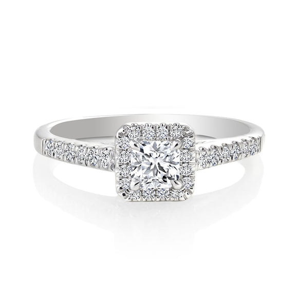 Canadian Rocks- 14K SQUARE Diamond ring-CR-R126821/30ISQW