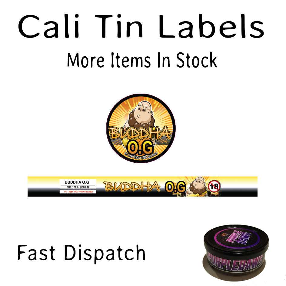 Buddha O G Labels For 100ml Press In Tin