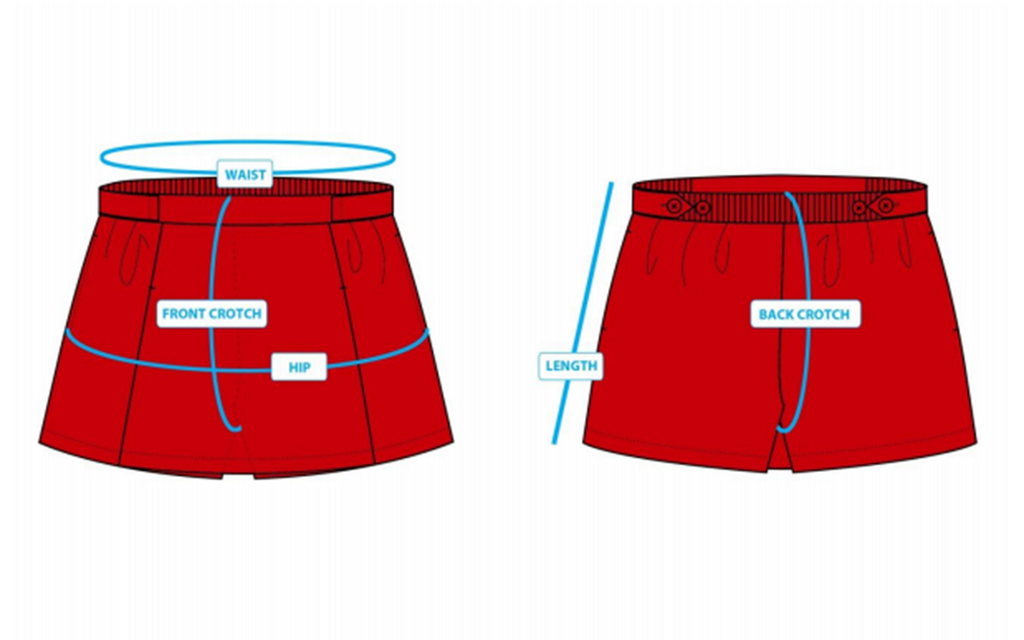 PCF Sparkletots Girl Culottes Sizing chart