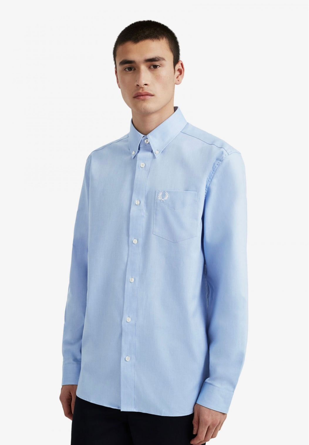 Fred perry Oxford Shirt  - Light Smoke