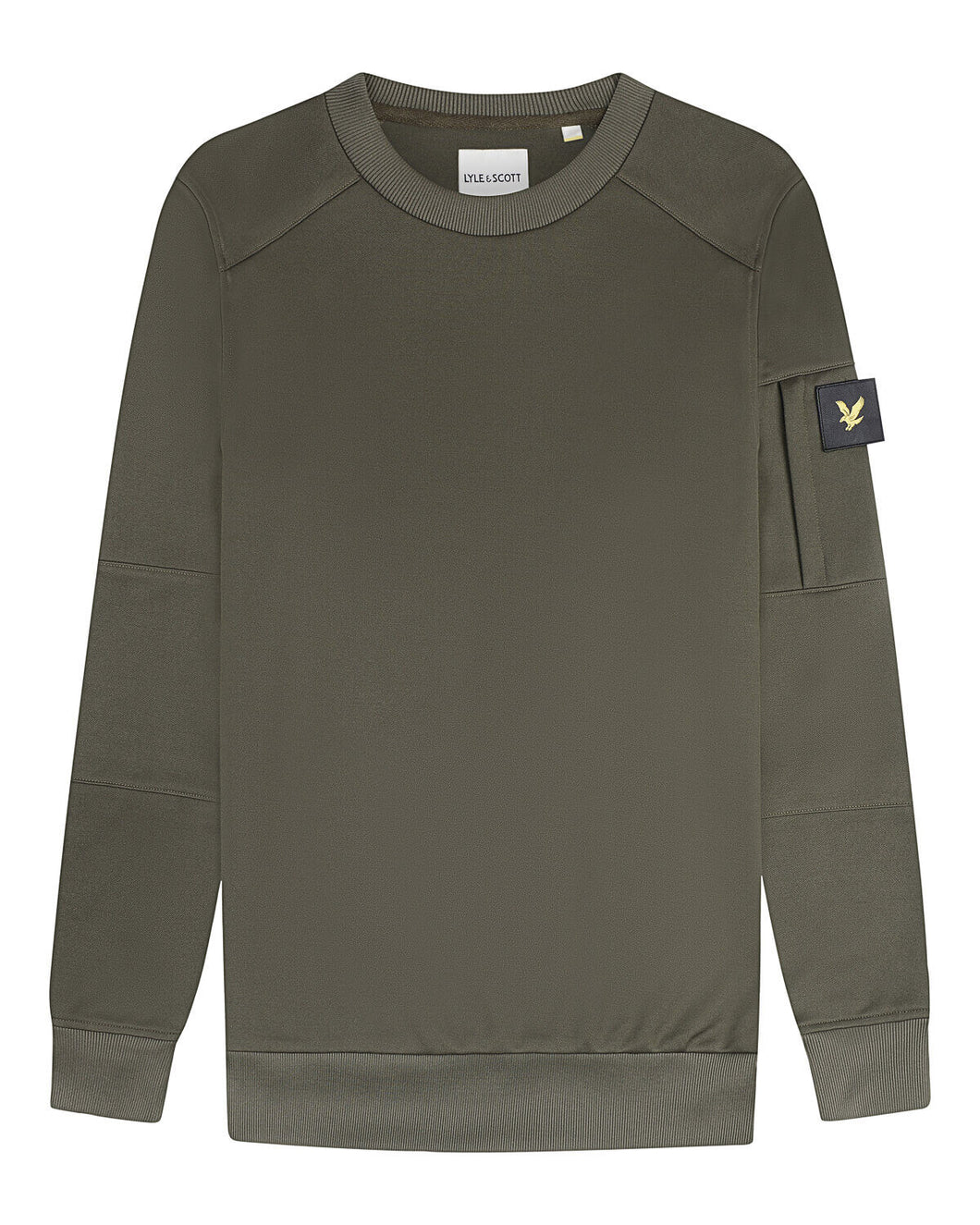 Casuals Crew Neck Sweatshirt With Sleeve Pocket TREK GREEN