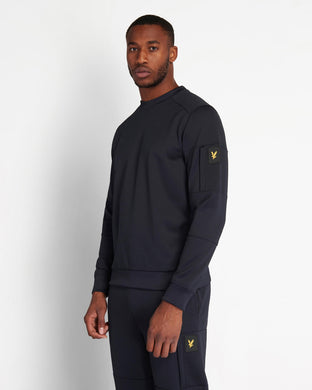 Casuals Crew Neck Sweatshirt With Sleeve Pocket DARK NAVY