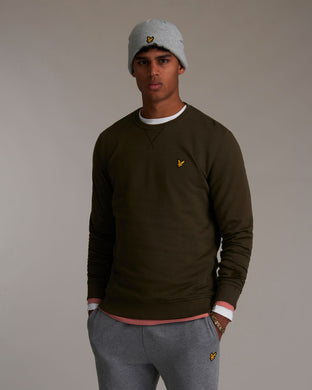Crew Neck Sweatshirt TREK GREEN