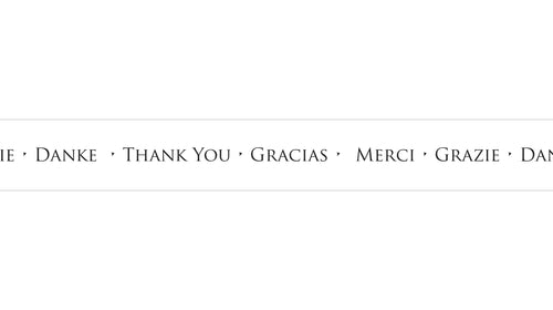 Thank You Merci B