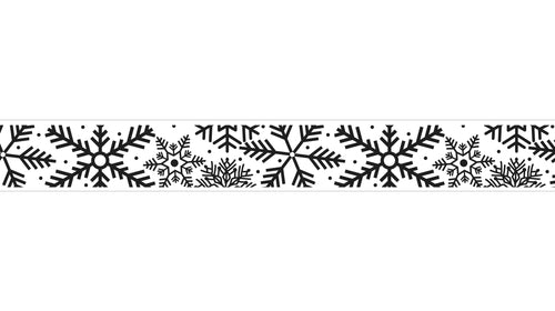 Christmas - Cut Snowflakes (100 Yard Roll)