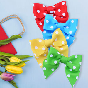 Twist Bows - Polka Dot (Bag of 50)