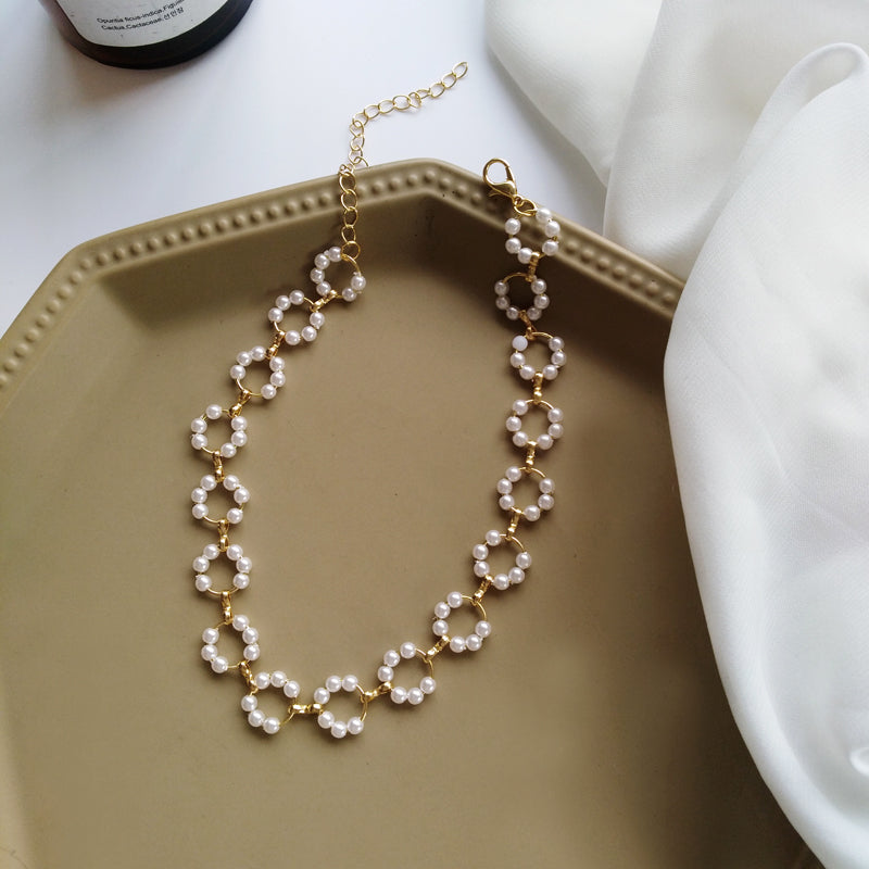 Carrie Pearl Chain and Necklace