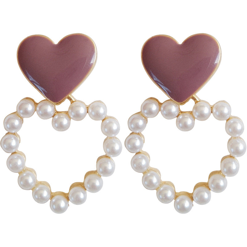 Dolly Sweetheart Pearl Drop Earrings