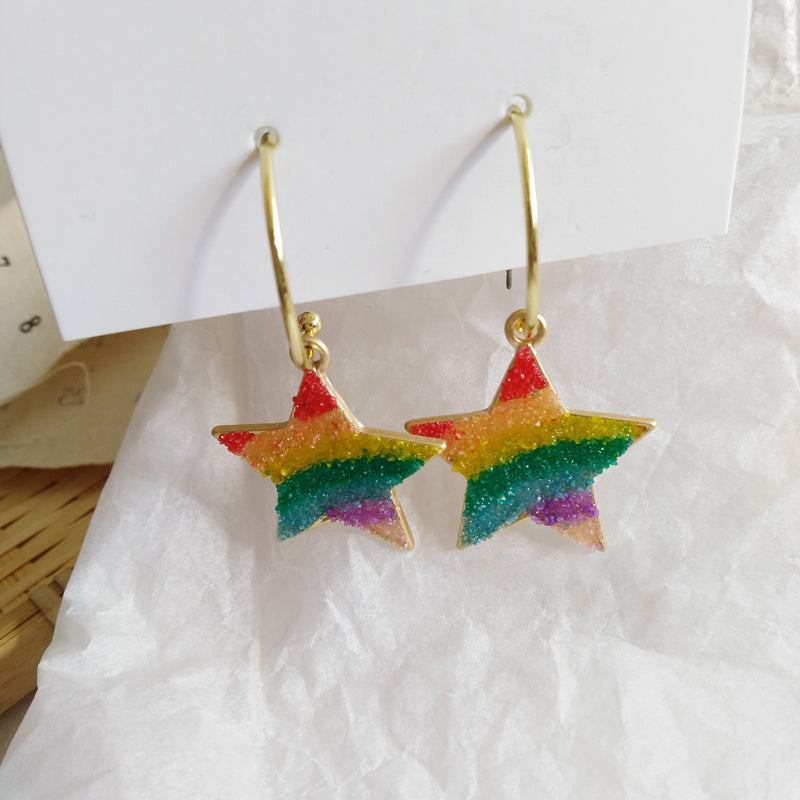 Pride Collection Rainbow Drop Earrings