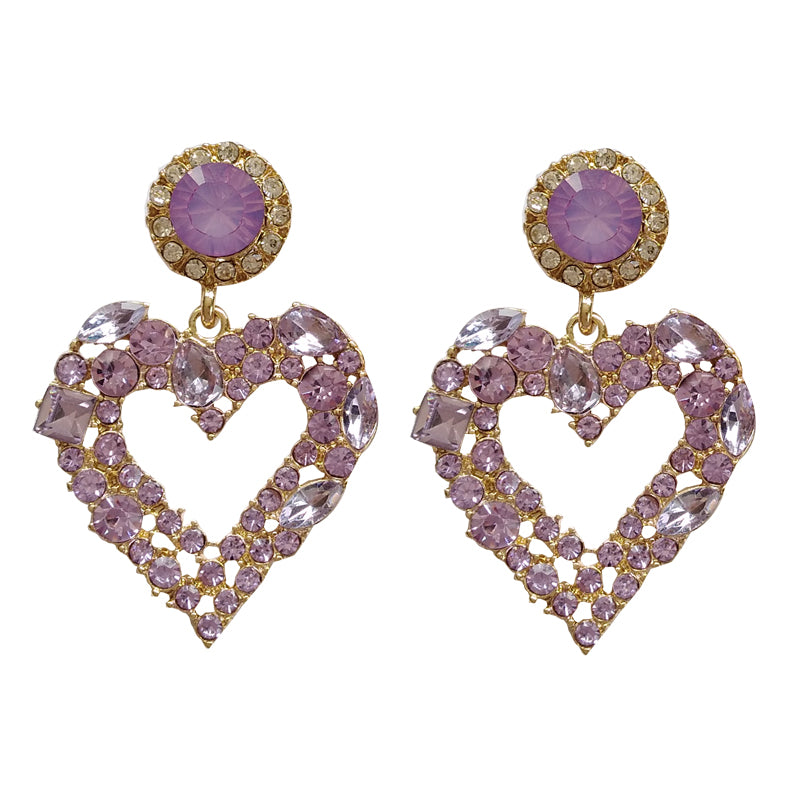 Madama Butterfly Crystal Drop Earrings