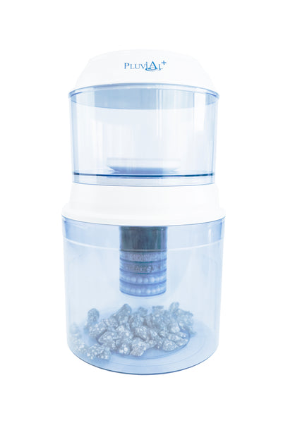 1 Year Family Pack Dispenser Unit - (includes Upper Tank, Lower Tank, 1 x ceramic filter, 1 x 5 stage filters, 1 x mineral stones) + 1 x 5 stage filters & 4 x mineral sticks
