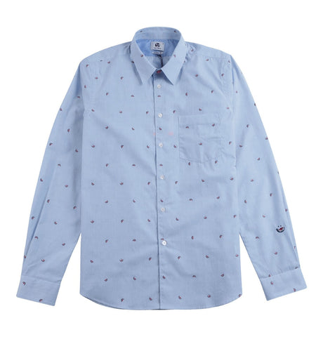 PS Paul Smith - Tailored Cotton Shirt Watermelon Broderie