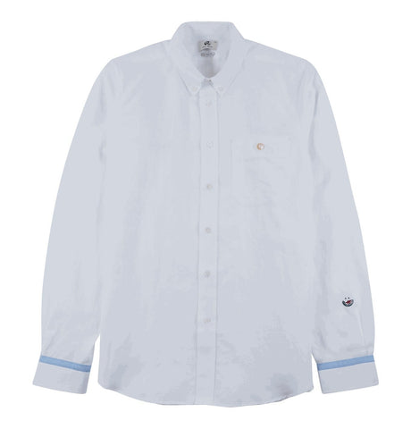 Men's Tailored Shirt with Pocket Details White