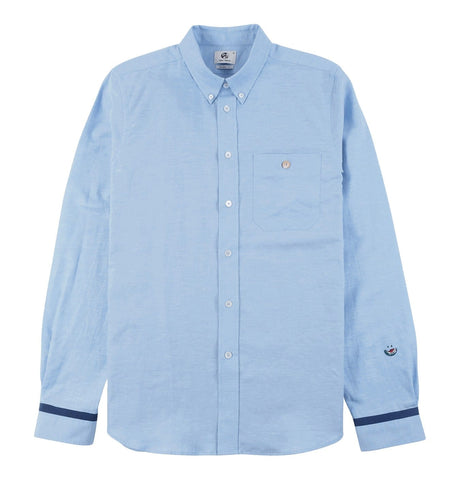 Men's Tailored Shirt with Pocket Details Light Blue
