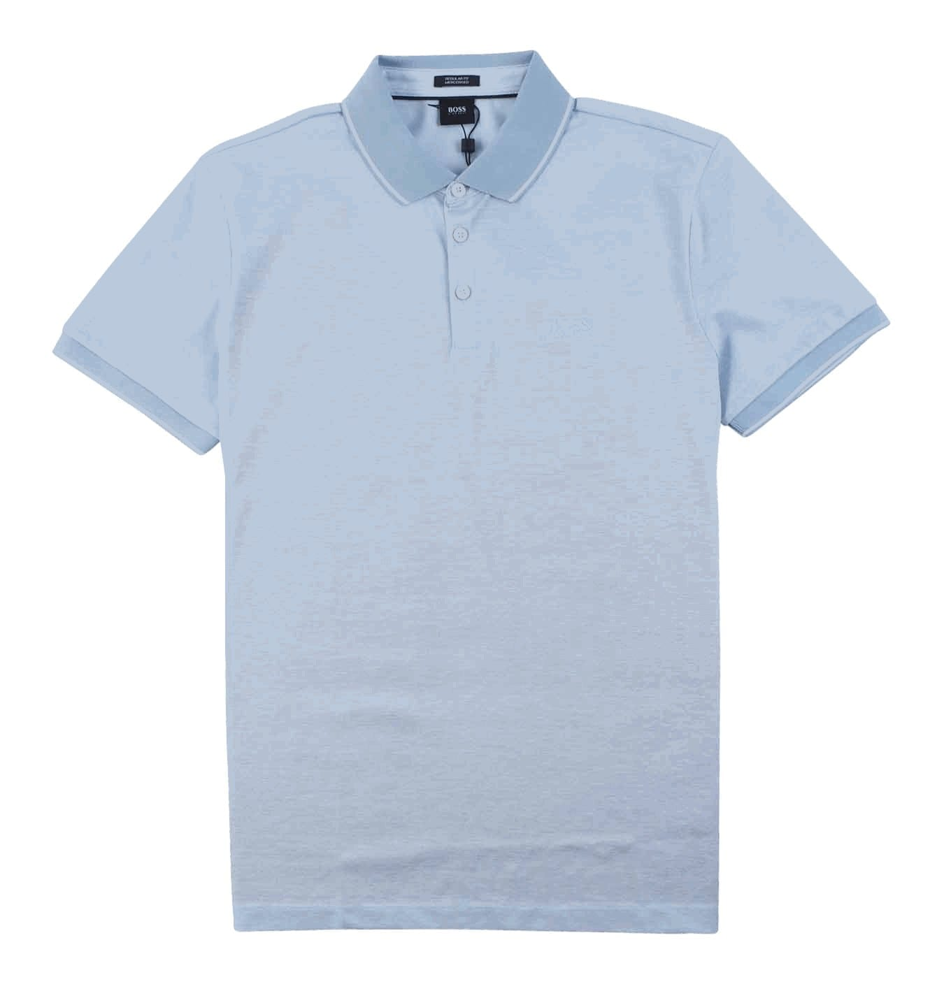 Image of   Regular Fit Mercerised Polo Light Blue