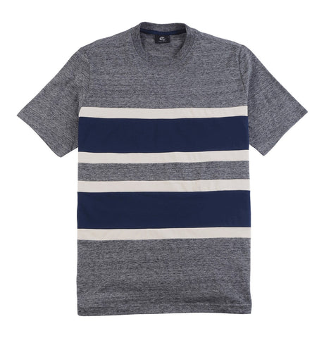 Ash Grey T-shirt with Fabric Stribes