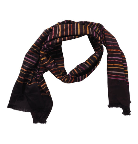 Men's Scarf Textured Strp