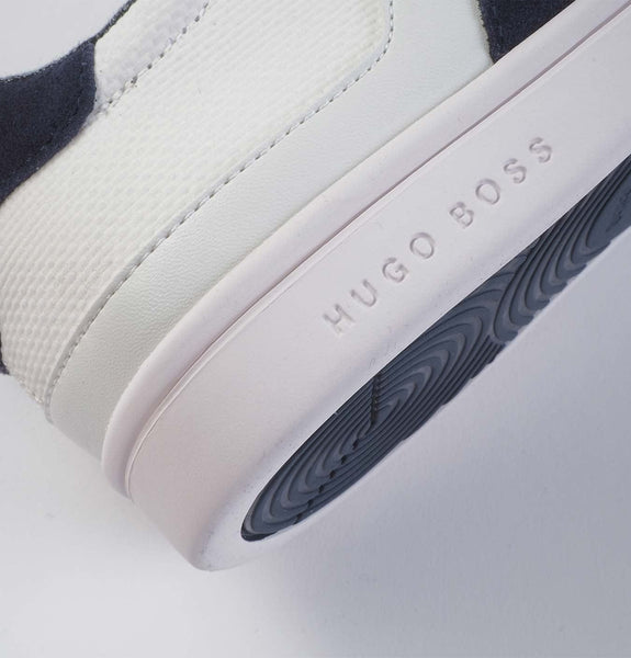 Low-Top Sneakers in Material Mix