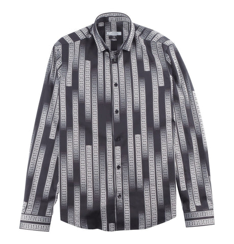 Versace Collection - Shirt Black/White with Geometric Print