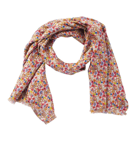 Men's Scarf Rainbow Botantcal