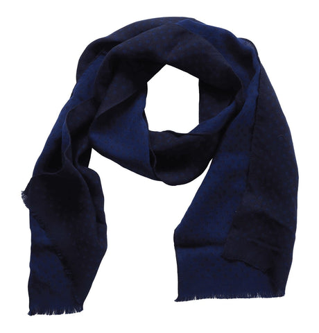 Men's Scarf Mini Logo Spot Blue