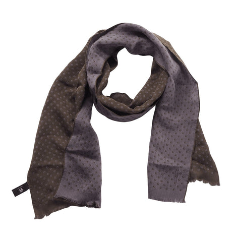 Men's Scarf Mini Logo Spot Green